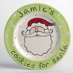 Allison and I are going to fired up and making a Santa cookie plate. Then when she gets older we can pass it down to her kids!