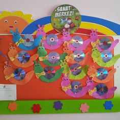 cd snail craft idea for kids (2)