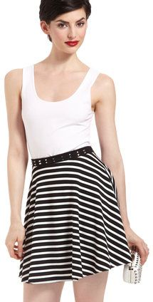 #ideeli.com               #Skirt                    #CASUAL #COUTURE #Black/White #Flare #Skirt #with #Studded #Waistband         CASUAL COUTURE Black/White Flare Skirt with Studded Waistband                                           http://www.seapai.com/product.aspx?PID=344827