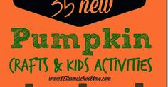 35 new pumpkin crafts for kids - so many really clever, kids activities I haven't seen before!! Perfect October activities