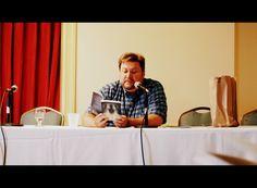 J Langan explicating the joys of Cthulhu. Providence 2013  courtesy Sandor Silverman