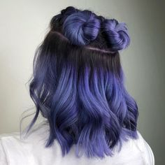 131 perfect purple hair color & hairstyle design ideas – page 1 Hair Color Streaks, Hair Color Purple, Hair Dye Colors, Cool Hair Color, Vivid Hair Color, Dyed Hair Purple, Ombre Hair, Hair Color Ideas, Pastel Green Hair