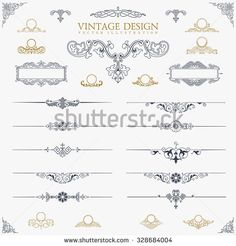 Vector flourish ornaments free vector in adobe illustrator ai baroque set of vintage decor elements floral calligraphic ornaments and frames retro style design publicscrutiny Image collections