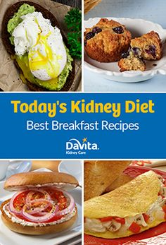 "Rise and shine with recipes from the new Today's Kidney Diet: Best Breakfast Recipes cookbook. Whether you're on the go and want ""An Apple a Day"" Muffin or prefer to savor your meal with a Mushroom and Red Pepper Omelet, we have a recipe for you. Davita Recipes, Kidney Recipes, Diet Recipes, Low Potassium Recipes, Low Sodium Recipes, Low Sodium Diet, Healthy Kidney Diet, Kidney Health, Kidney Foods"