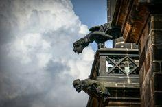 Prague Castle Revisited St. Vitus Cathedral gargoyles.  Prague Czech Republic