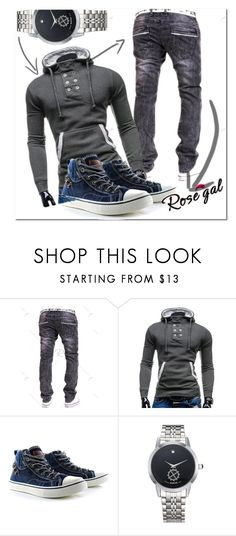 """""""men"""" by fatimka-becirovic ❤ liked on Polyvore featuring vintage, men's fashion, menswear, hoodie and men"""