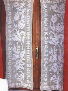 professione donna schemi per il filet tendine con rami fioriti