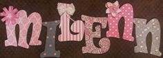 Wall Letters  Hanging Wall Letters  Decorative by BookendsandBows, $15.00