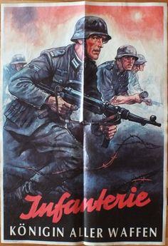 WW2 German Propaganda poster  - the poor bloody infantry again!