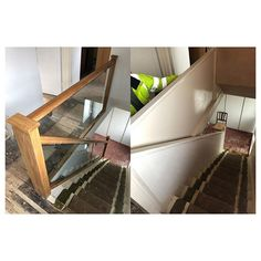 This bespoke glass and hardwood staircase modernised and opened up this core of this property! Made to measure using toughened safety glass. Call us on 01904 412061 or drop us a message to find out how we can transform your home! Glass Supplies, Safety Glass, Open Up, Bespoke, Hardwood, Core, Stairs, Interior Design, Modern