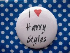 I heart Harry Styles - 2.25 inch pinback button badge by PinMePaula on Etsy https://www.etsy.com/listing/214021707/i-heart-harry-styles-225-inch-pinback