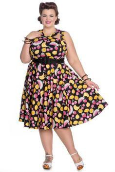 HELL BUNNY Jacqueline ~ 60s Lemon 3//4 Sleeve Blouse ~ Pinup Retro Plus Size