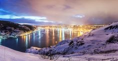 winter panorama of St. John's harbour, Newfoundland | by tuanland