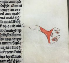 ☞ Angry Manicule, Сердитый указатель (F.5r in MSHunter 369)
