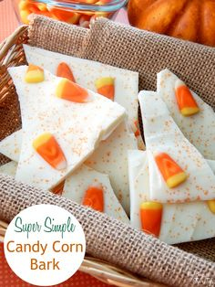 Fall is almost here! Get prepped for guests and parties with this easy candy corn bark recipe!