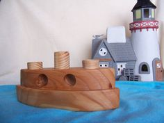 Toy Ferry Boat for Child's Play Made from by Tigerseyecrafts, $12.00