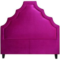 The Lexi has a royal quality to its design, with tiers reminiscent of a crown. We know it would make Princess Kate swoon. Available in multiple sizes and fabric options #bed #headboard #fuchsia #pink #velvet #chic #raspberry #upholstered