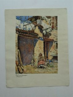 Aquarell Zeichnung Demel Österreich nach August von Pettenkofen 1923 Italien Painting, Ebay, Watercolour, Italy, Drawing S, Cards, Painting Art, Paintings, Painted Canvas