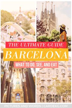 Looking for the best things to do in Barcelona in 3 days? This Barcelona travel guide will give you the best tips on what to do, see, and eat on your trip! This Barcelona itinerary will help you plan the best trip ever, and is packed full of information on what to do, where to eat, where to stay, how to get around, and more. Definitely a must-read when planning any Barcelona trip. #barcelona #spain #barcelonatravel #spaintravel #barcelonaitinerary