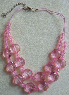 collana a 2 giri con perline in plastica  di crys_e_cri su DaWanda.com