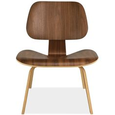 Eames® Molded Plywood Lounge Chair with Wood Legs (14,540 MXN) ❤ liked on Polyvore