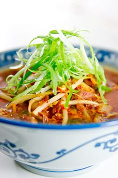 """As much as I love instant kimchi ramen this sounds infinitely better.  Check out his recipe for """"ramyeon"""" noodles also."""