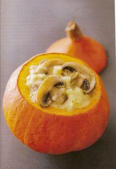 Potimaron aux champignons crémeux: un légume farci qui n a pas besoin de viande. L'Atelier bio