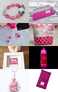 Pretty in pink @IHeartScotland Team by Karen Salveta on Etsy--Pinned with TreasuryPin.com