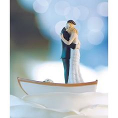 "Wedding Cake Toppers - ""Row Away"" Wedding Couple in Rowboat Figurine (Customization Available) Row Away Cake Topper] : Wholesale Wedding Supplies, Discount Wedding Favors, Party Favors, and Bulk Event Supplies Wedding Ceremony Supplies, Diy Wedding Supplies, Wedding Supplies Wholesale, Wedding Favors, Party Supplies, Party Favors, The Bride, Bride Groom, Nautical Wedding Cakes"