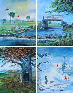 Classic Winnie the Pooh Four Seasons Peter Ellenshaw
