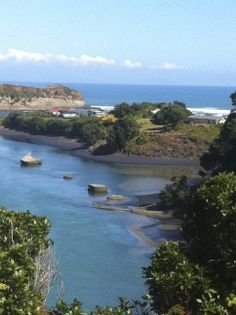 Taranaki area on the west coast of the North Island.