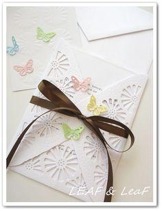 wedding invitation 手作り招待状