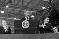 Dr. Von Braun with President Johnson