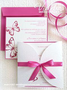 """Butterflies"" Wedding InvitaríanmRipositas, Violetera Handmade Wedding Invitations"