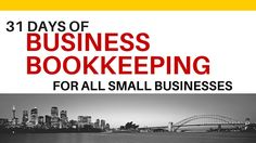 write 31 days challenge business bookkeeping