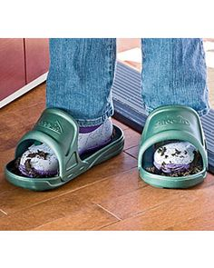 Shoe-Ins, protect floors from muddy shoes for quick trips back inside