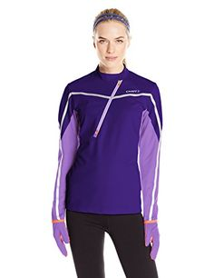 Craft Women's Weather Windproof Running Jersey Shirt, Dynasty/Lilac/Flourange, X-Large >>> For more information, visit image link.