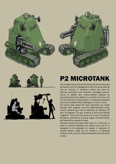 I was inspired by the challenge Malaveldt set himself: How small can you make a tank before it looks ridiculous? I'm not sure if I've fulfilled the non-ridiculous part of the brief, but i...