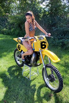 Motocross is a form of off-road motorcycle racing held on enclosed off-road circuits. The sport evolved from motorcycle trialscompetitions held in the United Kingdom. Backyard girlfriend babe girl next door bikini tracker motorcycle bike. Motocross Girls, Vintage Motocross, Motocross Racer, Lady Biker, Biker Girl, Motard Sexy, Tracker Motorcycle, Motorcycle Men, Chicks On Bikes