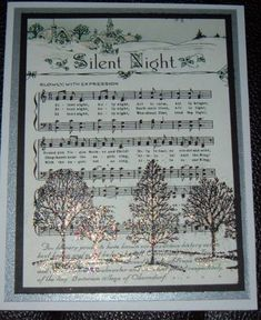 Lovely as a Tree/Silent Night by sewnsun - Cards and Paper Crafts at Splitcoaststampers