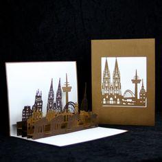 POP UP Karte Köln Skyline