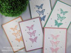schmetterlingskarten mit papillon potpourri und den neuen in color von Stampin' Up! #stampinup #papillonpotpourri #incolor