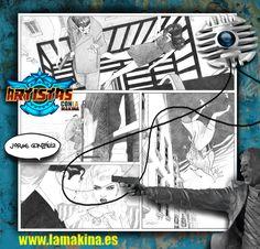 Cartel promo  de  LA MAKINA Escuela de arte urbano,   para facebook. Ignacio Junquera