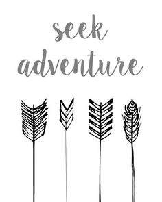 Seek Adventure Arrow Wall Art Print