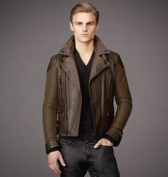Belstaff | Mens Leather & Canvas Alwyn Jacket | Mens Designer Jackets & Coats