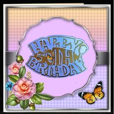 Gallery #CUP692767_543/931549 - I cut this out with my scan n cut and used the 50th inside the birthday greeting. I then added it to a fram...