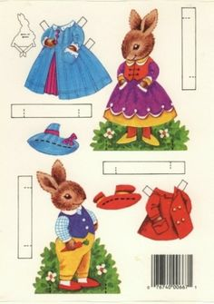 Bunny Rabbit Paper Dolls  Auf indulgy.com http://www.pinterest.com/kittysfunnies/ic-paper-dolls-animals/