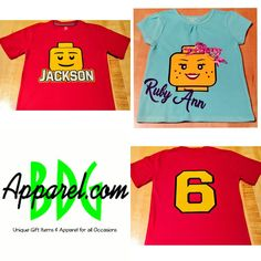 Legos are the gateway to a child's imagination and creativity.  Does your  son and/or daughter love there Legos? Why not celebrate there next birthday in Lego style with these heat press t-shirts. Happy Birthday Jackson!!#legos #lego #legobirthday #birthday #heatpress #nextgeneration