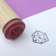 D20 Rubber Stamp RPG D and D gaming multi sided dice by RADstamps, $3.75