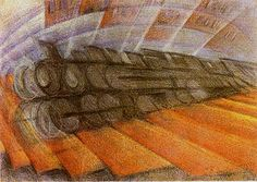 L. Russolo; Dinamismo di un treno - 1912